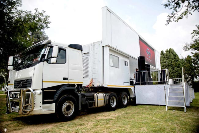 Swan Mobile LED Stage Truck Exported to African