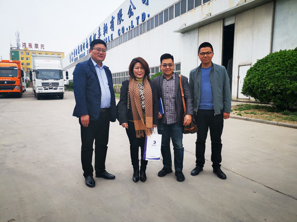 Indonesian Customers Visited Hennan Swan Vehicle CO.,LTD